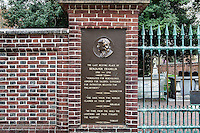 Burial site of Benjamin Franklin at Christ Church cemetery, Philadelphia, Pennsylvania, USA