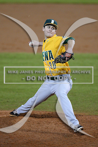 Siena Saints pitcher Matt Quintana (30) during the season opening game against the Central Florida Knights at Jay Bergman Field on February 14, 2014 in Orlando, Florida.  UCF defeated Siena 8-1.  (Copyright Mike Janes Photography)