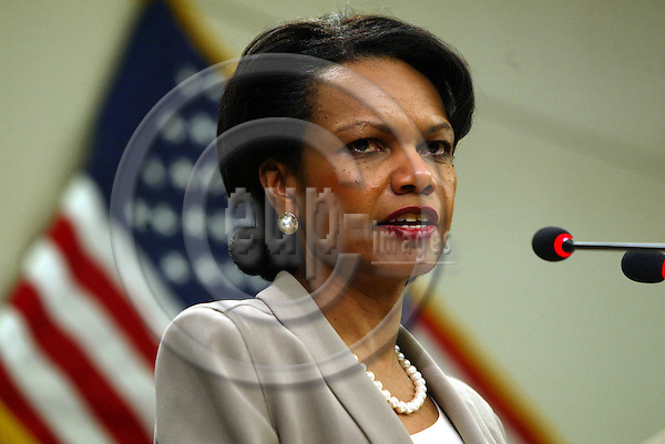 Belgium--Brussels--- 09 FEBRUARY 2005 - Berlaymont / Commission - Condoleezza RICE, Minister for Foreign Affairs, United States of America -  PHOTO:  ANNA-MARIA ROMANELLI / EUP-IMAGES