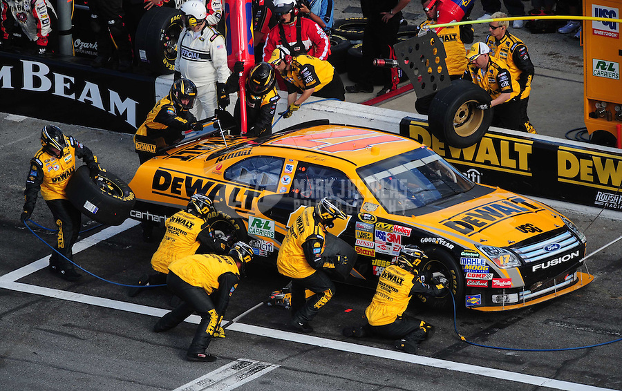 Feb 17, 2008; Daytona Beach, FL, USA; NASCAR Sprint Cup Series driver Matt Kenseth (17) during the Daytona 500 at Daytona International Speedway. Mandatory Credit: Mark J. Rebilas-US PRESSWIRE