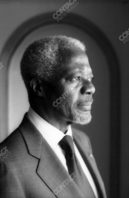 Kofi ANNAN.U.N. Secretary General.May 2001..2001 © David BURNETT (CONTACT PRESS IMAGES)..