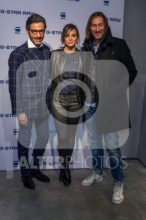 Spanish actress and singer Leonor Waitling poses for the photographers as the new image of the famous clothing company.<br />  2015 at the G-Star Raw Boutique in Madrid, Spain. january 29, 2015. (ALTERPHOTOS/Sirocco)
