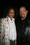As The World Turns' Tamara Tunie & Ice-T (Law & Order SVU) at Skating with the Stars (celebrities & Olympic skaters), a benefit gala for Figure Skating in Harlem on April 6, 2010 at Wollman Rink, Central Park, New York City, New York. (Photo by Sue Coflin/Max Photos)