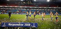 Oslo, 20091108. Cupfinalen, Molde-Aalesund. Tor Hogne Aarøy og andre Aalesundspillere.
