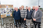 Killorglin Archives and The Kerry Association in London are hosting a tribute to Butty Sugrue at this weekend's Threshing Cancer event in Beaufort. <br /> Front l-r Terence Houlihan, Johnny 'porridge' O'Connor, Austin O'Reilly and Eamon Crowley. <br /> Back l-r Mike Foley, Stephen Thompson, Brendan O'Sullivan (Kerry Association London) and Thomas O'Sullivan.