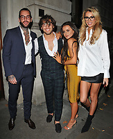 Pete Wicks, Kem Cetinay, Amber Davies and guest at the Specsavers' Spectacle Wearer of the Year Awards 2017, 8 Northumberland Avenue, Northumberland Avenue, London, England, UK, on Tuesday 10 October 2017.<br /> CAP/CAN<br /> &copy;CAN/Capital Pictures