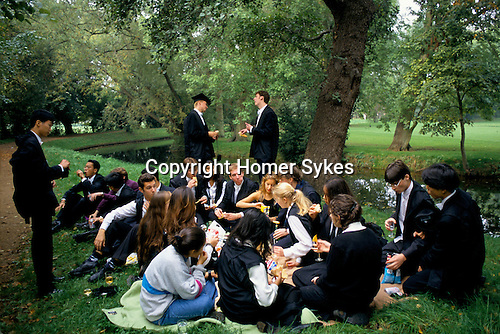 ST EDMUND HALL FRESHERS PICNIC BY RIVER CHERWELL, OXFORD, 1995