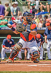 22 March 2015: Houston Astros catcher Hank Conger in Spring Training action against the Pittsburgh Pirates at Osceola County Stadium in Kissimmee, Florida. The Astros defeated the Pirates 14-2 in Grapefruit League play. Mandatory Credit: Ed Wolfstein Photo *** RAW (NEF) Image File Available ***