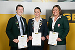 Girls Water Polo finalists Emma Jayne, Lauren Sieprath & Natalie Seabourn. ASB College Sport Young Sportperson of the Year Awards 2007 held at Eden Park on November 15th, 2007.