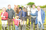 PONYS: Taken part in the Kerry Pony Club show jumping at Blennerville on Sunday, l-r: Rosie Ashman, Denis and David Harris, Marianne Foley,Jessica and Luke Harris and Anthony McCarthy (Listowel).....
