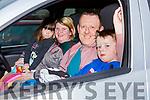 Ann MArie, Martina, Mark and Kieran O'Riordan enjoying the drive in cinema in the INEC car park on Friday night