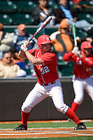 Nebraska Cornhusker 1B Tyler Farst against Texas on Sunday March 21st, 2100 at UFCU Dish-Falk Field in Austin, Texas.  (Photo by Andrew Woolley / Four Seam Images)