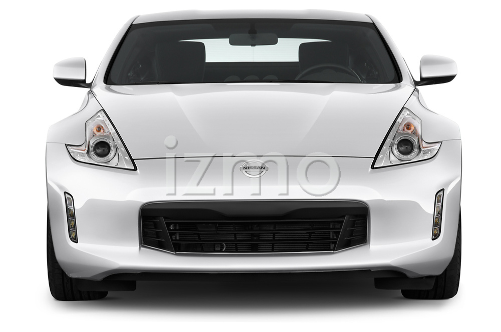 Straight front view of a 2013 Nissan 370Z Coupe