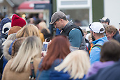 6th October 2017, Carnoustie Golf Links, Carnoustie, Scotland; Alfred Dunhill Links Championship, second round; Former World heavyweight boxing champion Wladimir Klitschko signs autographs after the second round at the Alfred Dunhill Links Championship at the Championship Links, Carnoustie