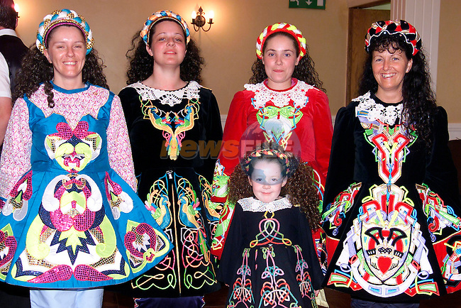 Catherine Campbell, Maria Ward, Mary Leslie, Caroline Campbell and Ciara Brannigan at the opening night of Seisiun in the Westcourt Hotel..Picture: Paul Mohan/Newsfile