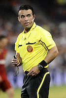 Referee Hikario  Grajeda... Sporting Kansas City defeated Real Salt Lake 2-0 at LIVESTRONG Sporting Park, Kansas City, Kansas.