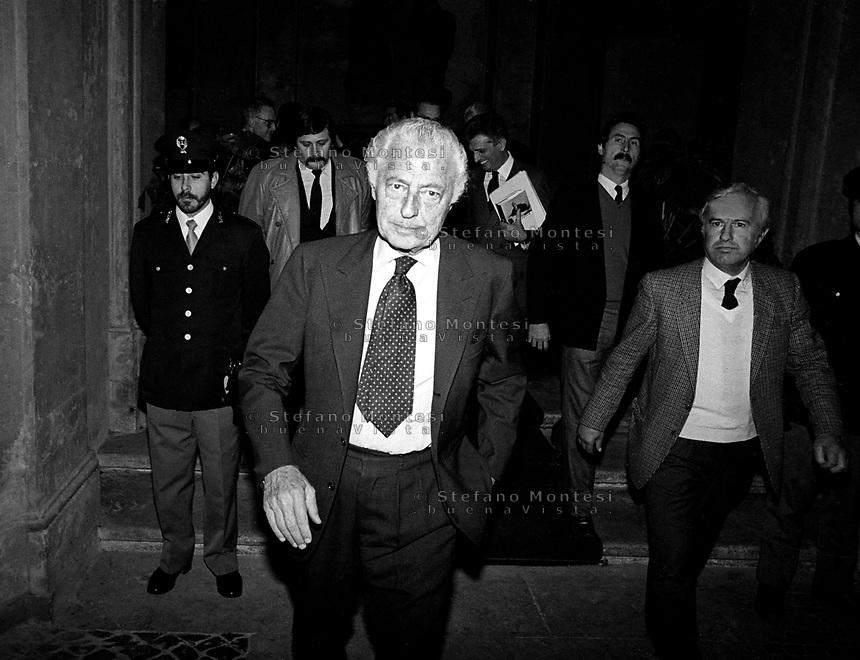 Roma 1983 . Gianni Agnelli