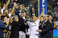 Los Angeles Galaxy's London Donovan and teammates after beating the Houston Dynamo 1-0 in the MLS Cup at the Home Depot Center. Los Angeles Galaxy 1-0 over the Dynamo USA, Sunday, Nov. 20. 20011, in Carson, California. Photo by Matt A. Brown/isiphotos.com