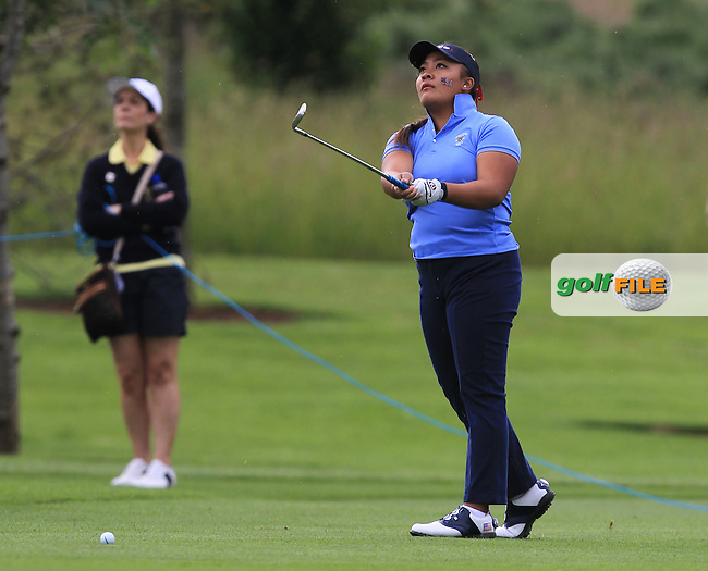 Mariel Galdiano on the 2nd during the Friday morning Foursomes of the 2016 Curtis Cup at Dun Laoghaire Golf Club on Friday 10th June 2016.<br /> Picture:  Golffile   Thos Caffrey