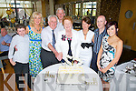 GOLDEN: Family gathering to celebrate 50th Wedding Anniversary of Denis and Masie Brennan, Connolly Park Tralee, with their parentes l-r: Donald and Ann Walsh, Denis and Masie Brennan, Domnic Wal;sh, Martina, Mike and Katie Slattery   in Ballyroe Heights hotel, Tralee on Sunday .........