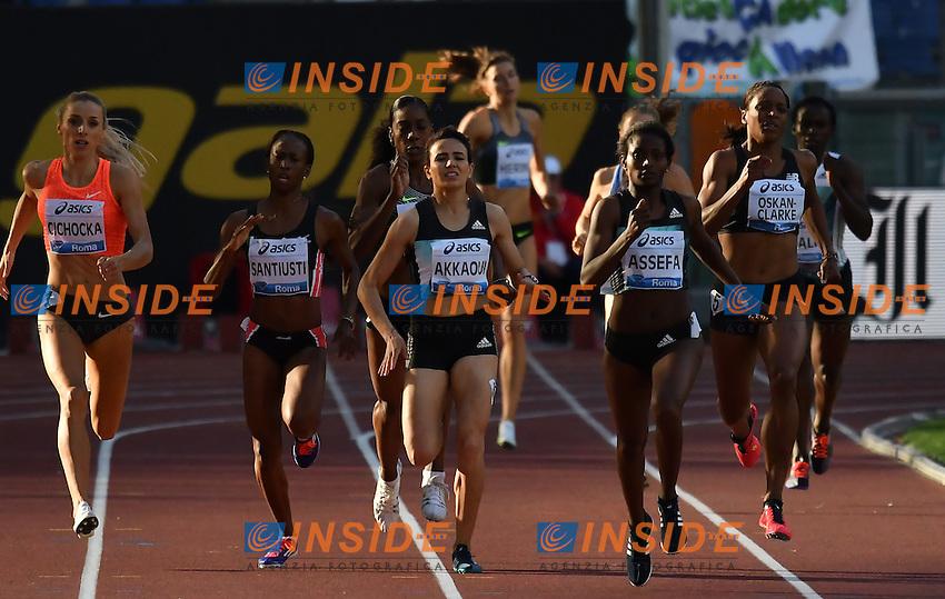 800m Women B Race <br /> Roma 02-06-2016 Stadio Olimpico <br /> IAAF Diamond League Golden Gala <br /> Atletica Leggera<br /> Foto Andrea Staccioli / Insidefoto