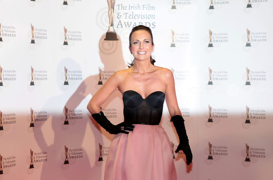 12/2/11 Lorraine Keane on the red carpet at the 8th Irish Film and Television Awards at the Convention centre in Dublin. Picture:Arthur Carron/Collins