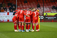 Crawley team huddle during Crawley Town vs Bradford City, Sky Bet EFL League 2 Football at Broadfield Stadium on 11th January 2020
