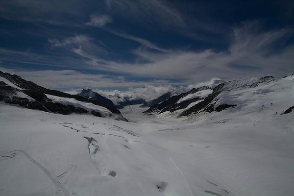 Views from Eiger Observatory above Lauterbrunnen, Switzerland,