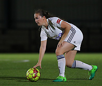 20190920 – LEUVEN, BELGIUM : OHL's  Valentine Hannecart is pictured during a women soccer game between Dames Oud Heverlee Leuven A and RSC Anderlecht Ladies on the fourth matchday of the Belgian Superleague season 2019-2020 , the Belgian women's football  top division , friday 20 th September 2019 at the Stadion Oud-Heverlee Korbeekdam in Oud Heverlee  , Belgium  .  PHOTO SPORTPIX.BE   SEVIL OKTEM