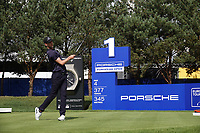 Niklas Lemke (SWE) on the 1st tee during the final round of the Porsche European Open , Green Eagle Golf Club, Hamburg, Germany. 08/09/2019<br /> Picture: Golffile   Phil Inglis<br /> <br /> <br /> All photo usage must carry mandatory copyright credit (© Golffile   Phil Inglis)