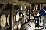 Chief Chemist Ken Pierce (left) and Master Distiller Greg Davis of 1792 Ridgemont Reserve Bourbon at the Tom Moore Distillery in Bardstown, Ky.