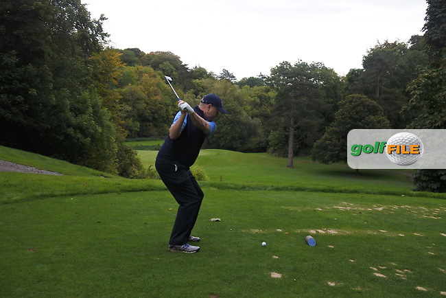 Joe Lyons (Galway) on the 14th tee during the AIG Senior Cup Final of the AIG Cups &amp; Shields Finals at Carton House Golf Club, Maynooth, Co Kildare. 23/09/2017<br /> Picture: Golffile | Thos Caffrey<br /> <br /> <br /> All photo usage must carry mandatory copyright credit     (&copy; Golffile | Thos Caffrey)