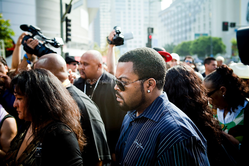 Ice Cube, Michael Jackson Memorial at Staples Center in Los Angeles, CA, USA July 2009