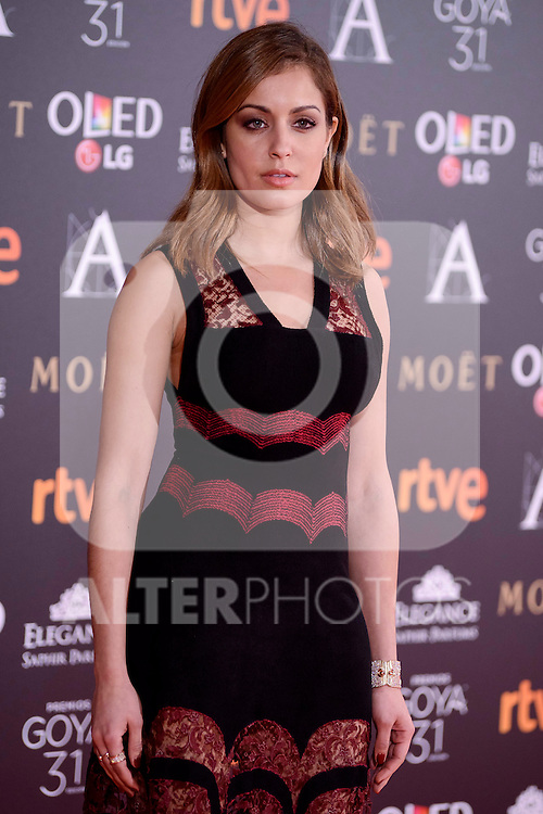 Elisa Mouliaá attends to the Red Carpet of the Goya Awards 2017 at Madrid Marriott Auditorium Hotel in Madrid, Spain. February 04, 2017. (ALTERPHOTOS/BorjaB.Hojas)