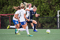 Allston, MA - Sunday July 17, 2016: Christen Westphal, Leah Galton during a regular season National Women's Soccer League (NWSL) match between the Boston Breakers and Sky Blue FC at Jordan Field.