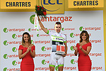 Laurent Pichon (FRA) Fortuneo-Samsic wins the days combativity award at the end of Stage 7 of the 2018 Tour de France running 231km from Fougeres to Chartres, France. 13th July 2018. <br /> Picture: ASO/Pauline Ballet | Cyclefile<br /> All photos usage must carry mandatory copyright credit (&copy; Cyclefile | ASO/Pauline Ballet)