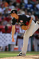Trystan Magnunson of the Toronto Blue Jays organization participates in the Futures Game at Angel Stadium in Anaheim,California on July 11, 2010. Photo by Larry Goren/Four Seam Images