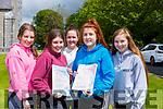 St Brigid's Killarney Presentation girls Laoise Geaney, Maeve Tangney, Leah Moynihan, Rebecca Osbourne and Saoirse Regan who were happy with the Leaving Cert paper on Wednesday