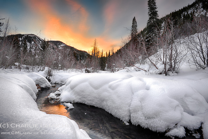 January morning on Smith & Morehouse Creek.  Uinta Mountain, Utah.