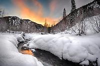 January morning on Smith & Morehouse Creek.  Uinta Mountain, Utah.
