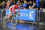Nicolas Edet (FRA) Cofidis in action during Stage 1, a 14km individual time trial around Dusseldorf, of the 104th edition of the Tour de France 2017, Dusseldorf, Germany. 1st July 2017.<br /> Picture: Eoin Clarke | Cyclefile<br /> <br /> <br /> All photos usage must carry mandatory copyright credit (&copy; Cyclefile | Eoin Clarke)