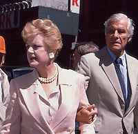 Angela Lansbury & Husband 1987 by<br />