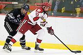 Joe Campanelli (Bentley - 16), Tommy O'Regan (Harvard - 13) - The Harvard University Crimson defeated the visiting Bentley University Falcons 5-0 on Saturday, October 27, 2012, at Bright Hockey Center in Boston, Massachusetts.