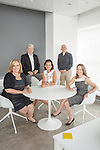 From left, Barbara Apple Sullivan, founder & managing partner, Val McGovern, partner & CFO, Nancy Schulman, partner & executive director of strategy, John Paolini, partner & executive creative director, Nicole Ferry, partner & executive director of strategy<br /> <br /> Photo by Danny Ghitis