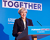 Theresa May <br /> Leader of the Conservatives <br /> launches The Conservative Party manifesto in Halifax, West Yorkshire, Great Britain <br /> 18th May 2017 <br /> <br /> General Election &rsquo;17 <br /> Campaign event <br /> <br /> <br /> <br /> <br /> <br /> <br /> Photograph by Elliott Franks <br /> Image licensed to Elliott Franks Photography Services