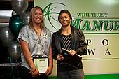 Sportswoman of the Year finalists Aroha Savage & Renee Wickliffe. Inaugural Wiri Licensing Trust Manurewa Sports Awards held at the Weymouth Cosmopolitan Club on Sunday April 11th 2010.