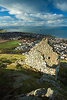North Berwick, World War II Watch Tower and Fife from North Berwick Law, East Lothian Coastline