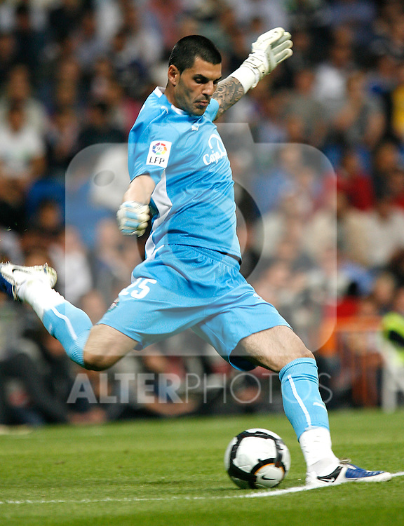 Valladolid's Jacobo Sanz during La Liga match. October 17, 2009. (ALTERPHOTOS).