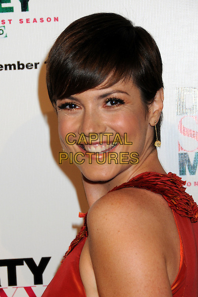 "ZOE McLELLAN.""Dirty Sexy Money"" Complete First Season DVD Launch Party at the Edison Lounge, Los Angeles, California, USA..September 8th, 2008.headshot portrait orange .CAP/ADM/BP.©Byron Purvis/AdMedia/Capital Pictures."
