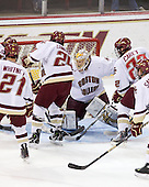Steven Whitney (BC - 21), Ben Smith (BC - 12), Matt Lombardi (BC - 24), John Muse (BC - 1), Paul Carey (BC - 22) - The Boston College Eagles defeated the University of Massachusetts-Amherst Minutemen 2-1 (OT) on Friday, February 26, 2010, at Conte Forum in Chestnut Hill, Massachusetts.